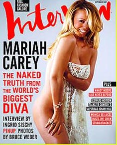 Mariah Carey nue dans Interview